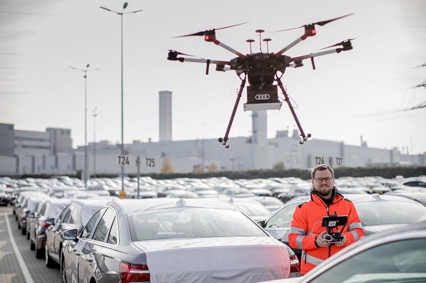 audi, gps, rfid, drone, otonom fabrika